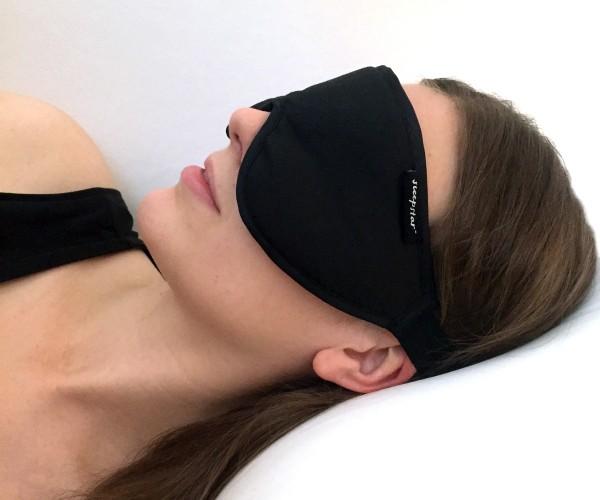 Stellar Deluxe Sleep Mask Woman Black